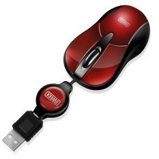 Sweex MI152 notebook Optical Mouse Cherry Red, USB