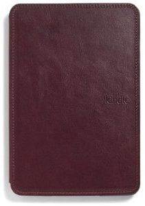 Amazon Kindle Touch leather sleeve with reading light purple (515-1061-02)