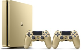 Sony PlayStation 4 Slim - 500GB inkl. 2 Controller gold