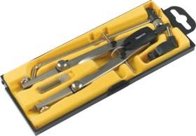 Aristo Studio Schnellverstellzirkel, 2 Gelenke, Universaladapter, Verlängerung, silber (AR55628)