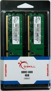 G.Skill Value DIMM Kit   4GB, DDR2-800, CL5-5-5-15 (F2-6400CL5D-4GBNT)
