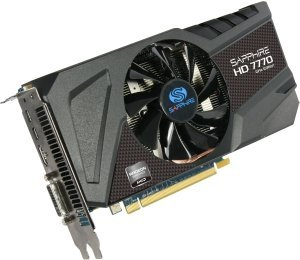 Sapphire Radeon HD 7770 GHz Edition, 1GB GDDR5, DVI, HDMI, 2x Mini DisplayPort, lite retail (11201-00-20G)