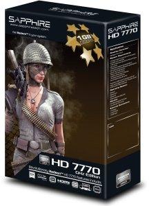 Sapphire Radeon HD 7770 GHz Edition, 1GB GDDR5, DVI, HDMI, 2x Mini DisplayPort, lite retail (11201-00-20G)