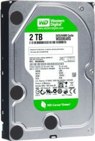 Western Digital WD Caviar Green 2TB, 64MB Cache, SATA 3Gb/s (WD20EARS)