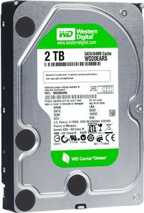 Western Digital Caviar Green 2000GB, 64MB Cache, SATA II (WD20EARS)