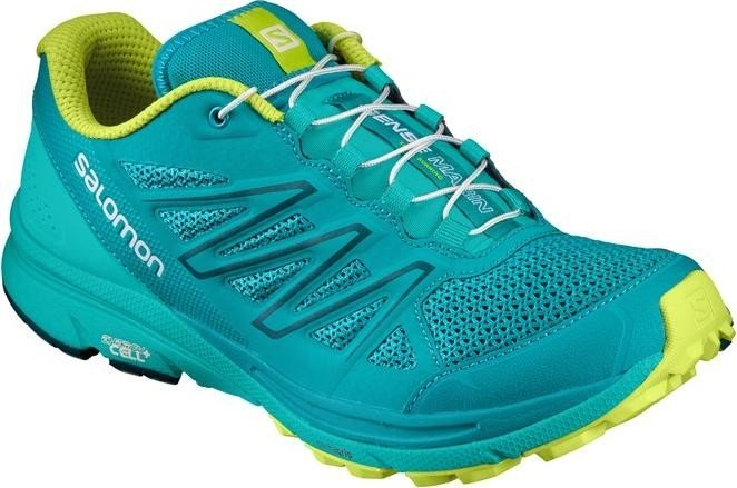 Salomon Damen Sense Marin W Traillaufschuhe, Blau (Deep Peacock Blue/Ceramic/Lime Punch 56), 42 2/3 EU