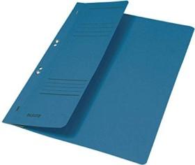 Leitz Ösenhefter A4 für kaufmännische Heftung, 1/2 Vorderdeckel, blau (3740035)