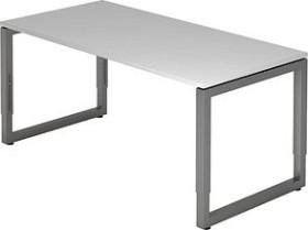 Hammerbacher Ergonomic Plus R-Serie RS16/5/G, grau/Graphit, Schreibtisch