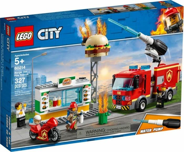 LEGO Bausteine & Bauzubehör LEGO Bau- & Konstruktionsspielzeug LEGO City Feuerwehreinsatz im Burger-Restaurant 60214