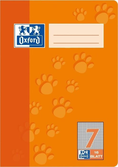 Oxford Schulheft orange A5 Lineatur 7, 16 Blatt (100050409)