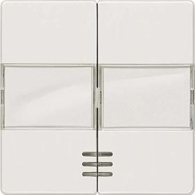 Siemens DELTA i-system Wippe mit Fenster, mit Schild, aluminiummetallic (5TG6253)
