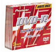 Pioneer DVS-R47A5S DVD-R Data/Video 4.7GB, 5er Slim Jewel Case