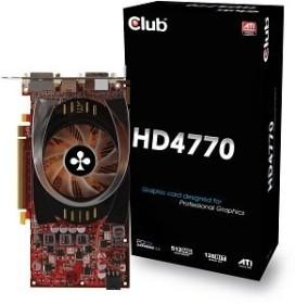 Club 3D Radeon HD 4770, 512MB GDDR5, 2x DVI, S-Video (CGAX-4772DD)