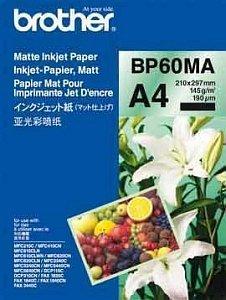 Brother Inkjet Papier matt A4, 25 Blatt, 145g (BP-60MA)