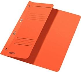 Leitz Ösenhefter A4 für kaufmännische Heftung, 1/2 Vorderdeckel, orange (37400045)