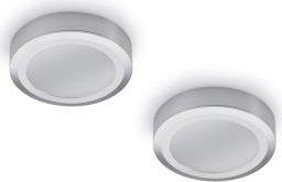 Naber Swag LED 3000K Aufbauleuchte ohne Schalter edelstahl, 2er-Set (7064007)