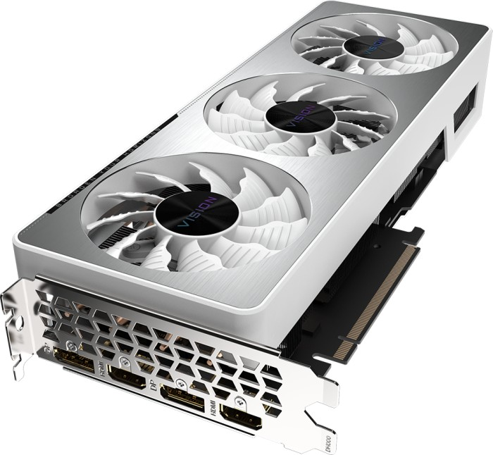 GIGABYTE GeForce RTX 3070 Vision OC 8G (Rev. 1.0), 8GB GDDR6, 2x HDMI, 2x DP (GV-N3070VISION OC-8GD)