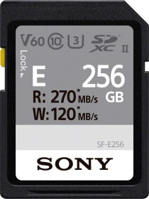 Sony SF-E Series R270/W120 SDXC 256GB, UHS-II U3, Class 10 (SF-E256)