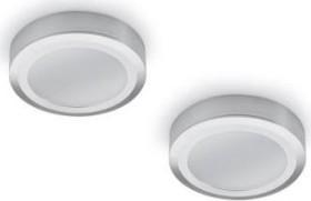 Naber Swag LED 4000K Aufbauleuchte ohne Schalter edelstahl, 2er-Set (7064002)