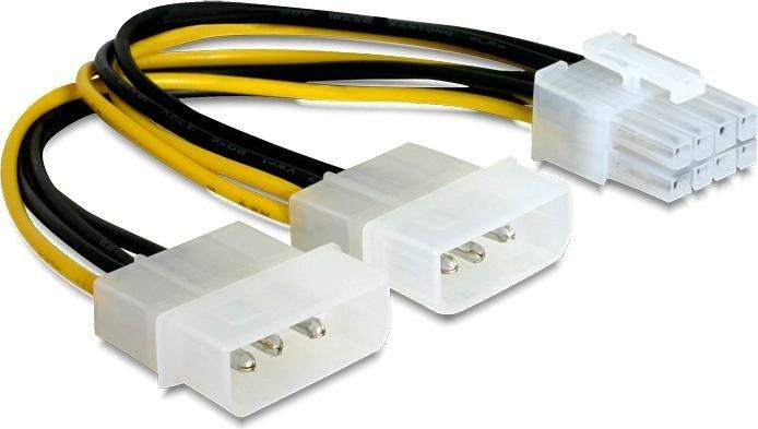 DeLOCK 8-Pin PCIe zu 2x 4-Pin Molex Adapter 15cm (82397)