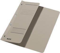 Leitz Ösenhefter A4 für kaufmännische Heftung, 1/2 Vorderdeckel, grau, 50er-Pack (37400085#50)