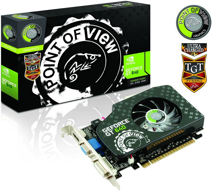 Point of View GeForce GT 640 TGT Ultra Charged, 2GB DDR3, VGA, DVI, HDMI (TGT-640-A1-2-UC)
