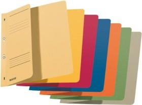 Leitz Ösenhefter A4 für kaufmännische Heftung, 1/2 Vorderdeckel, sortiert, 50er-Pack (37400099)