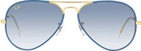 Ray-Ban RB3025JM Aviator Full colour Legend 58mm light blue-gold/light blue gradient (RB3025JM-91963F)
