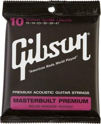 Gibson Masterbuilt Premium 80/20 Bronze Super Ultra Light (SAG-BRS10)