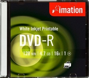 Imation DVD-R 4.7GB 16x, 10er Slimcase printable (22372)