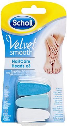 Scholl Velvet Smooth Nagelpflege-Aufsatz, 3 Stück