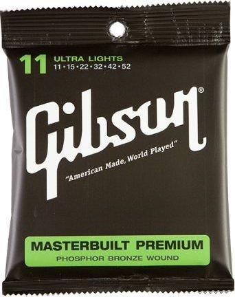 Gibson Masterbuilt Premium Phosphor Bronze Ultra Light (SAG-MB11)