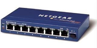 Netgear EN108TP hub, 8x RJ-45 10Mbit