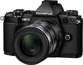 Olympus OM-D E-M5 Mark II schwarz mit Objektiv M.Zuiko digital ED 12-50mm (V207042BE000)