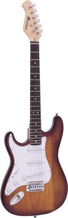 DIMAVERY ST-203 E-Gitarre LH weiß für LINKSHÄNDER