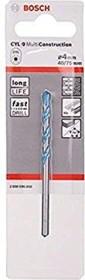Bosch CYL-9 MultiConstruction Mehrzweckbohrer 4x40x75mm, 1er-Pack (2608596050)