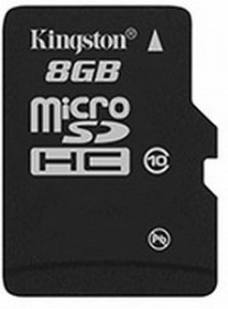 Kingston microSDHC 8GB, Class 10 (SDC10/8GBSP)