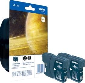 Brother Tinte LC1100BK schwarz, 2er-Pack (LC1100BKBP2)