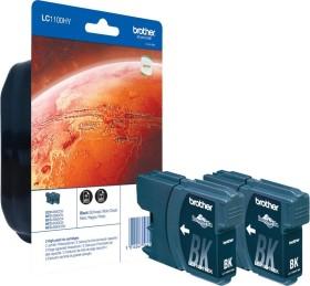 Brother Tinte LC1100HYBK schwarz hohe Kapazität, 2er-Pack