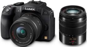 Panasonic Lumix DMC-G6 schwarz mit Objektiv Lumix G Vario 14-42mm OIS und 45-150mm OIS (DMC-G6W)