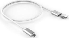 LMP Magnetic USB-C Ladekabel, silber, 1.8m (17216)