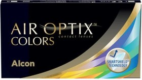 Alcon Air Optix Colors Farblinse sterling gray, -7.00 Dioptrien, 2er-Pack