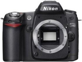 Nikon D80 schwarz mit Objektiv Fremdhersteller