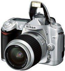 Nikon D50 silber mit Objektiv AF-S DX 18-55mm 3.5-5.6G ED (VBA121S1/VBA121K001)
