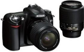 Nikon D50 schwarz mit Objektiv AF-S DX 18-55mm und AF-S DX 55-200mm (VBA120S2/VBA120K002)
