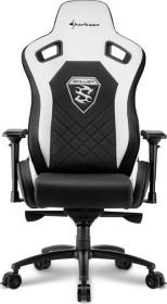 Sharkoon Skiller SGS4 Gamingstuhl, schwarz/weiß