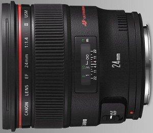 Canon EF 24mm 1.4 L USM II schwarz (2750B005)