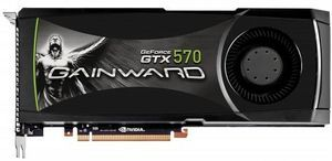 Gainward GeForce GTX 570, 1.25GB GDDR5, 2x DVI, mini HDMI (1671)