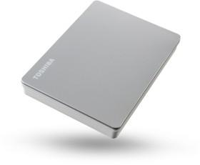 Toshiba Canvio Flex silber 2TB, USB 3.0 Micro-B (HDTX120ESCCA)