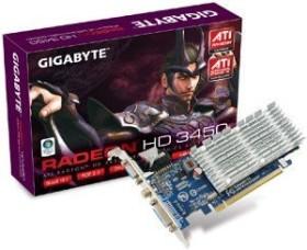 Gigabyte Radeon HD 3450, 256MB DDR2, VGA, DVI, S-Video (GV-RX345256H)